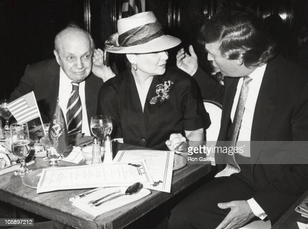 Joey Adams Cindy Adams and Donald Trump during Dinner Hosted by Donald Trump at Oyster Bar Plaza Hotel in New York City New York United States