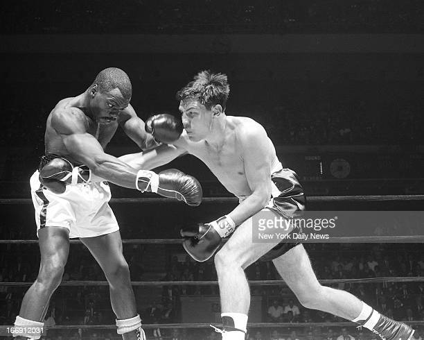 Joey Archer vs Rubin Hurricane Carter Joey Archer misses left as Rubin Carter slides away during second round of bout at Madison Square Garden Archer...
