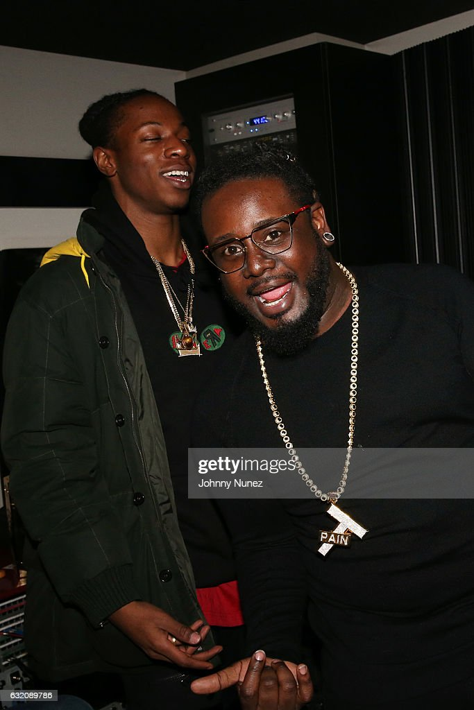 Joey Bada$$ and T-Pain attend Yams Day With A$AP Rocky at Madison Square Garden on January 18, 2017 in New York City.