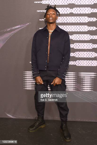 Joey Bada$$ arrives at the Savage X Fenty Fall/Winter 2018 fashion show during NYFW at the Brooklyn Navy Yard on September 12 2018 in Brooklyn NY