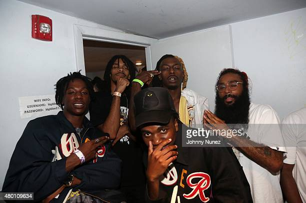 Joey Bada$$ Kirk Knight and Flatbush Zombies attend the Steez Day After Party at Highline Ballroom on July 7 in New York City