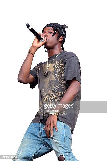 Joey Bada$$ performs with with Flatbush ZOMBiES onstage at the 2016 Panorama NYC Festival Day 3 at Randall's Island on July 24 2016 in New York City