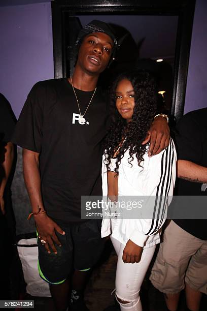 Joey Badass and Dreezy attend Highline Ballroom on July 20 2016 in New York City