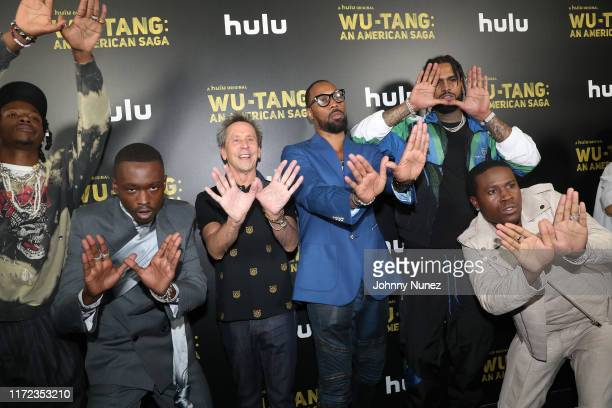 Joey Badass Ashton Sanders Executive Producer Brian Grazer RZA Dave East and Shameik Moore attend the WuTang An American Saga Premiere on September...