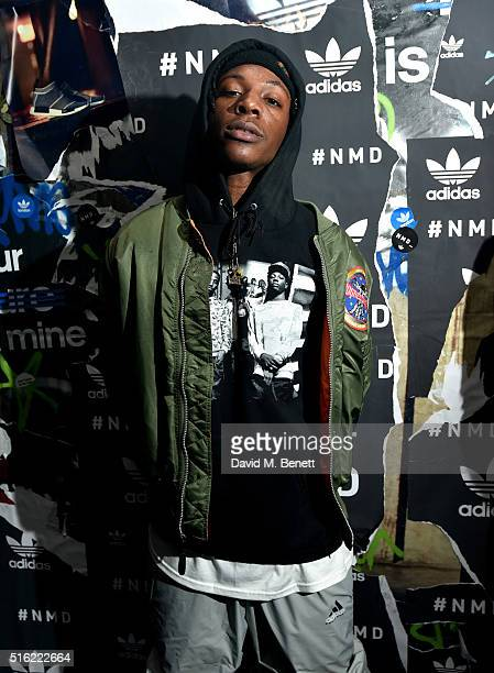 Joey Badass attends the adidas Originals launch of NMD Future House on March 17 2016 in London United Kingdom