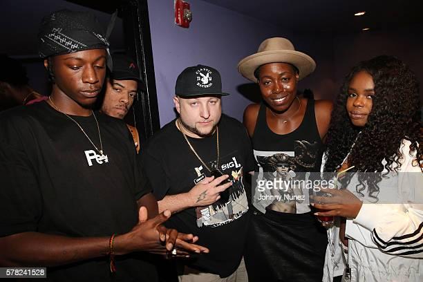 Joey Badass ELHAE Statik Selektah Tish Hyman and Dreezy attend Highline Ballroom on July 20 2016 in New York City