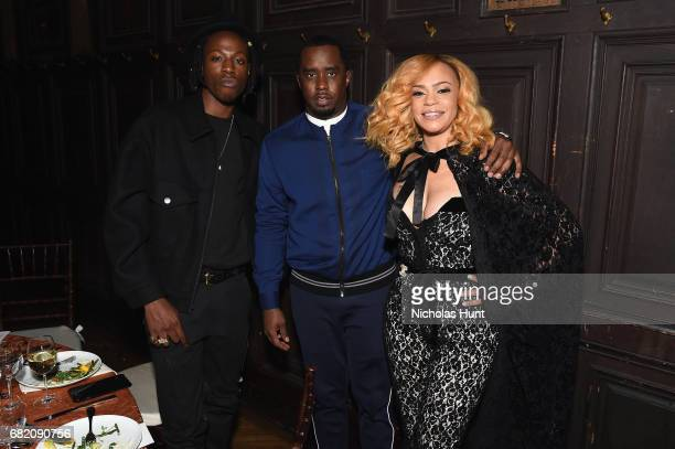 """Joey Badass, Sean """"Diddy"""" Combs and Faith Evans at the Room to Read event honoring Sean """"Diddy"""" Combs & David M. Solomon for Impact On Global..."""