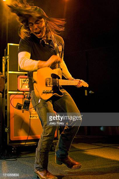 Joey Barba of the American rock band Tickle Me Pink performs at The Music Mill on January 20 2009 in Indianapolis