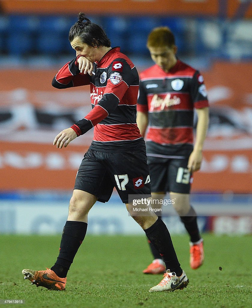 Joey Barton and Yoon Suk-Young of QPR look dejected after the Sky Bet Championship match between Sheffield Wednesday and Leeds United at Hillsborough Stadium on January 11, 2014 in Sheffield, England,