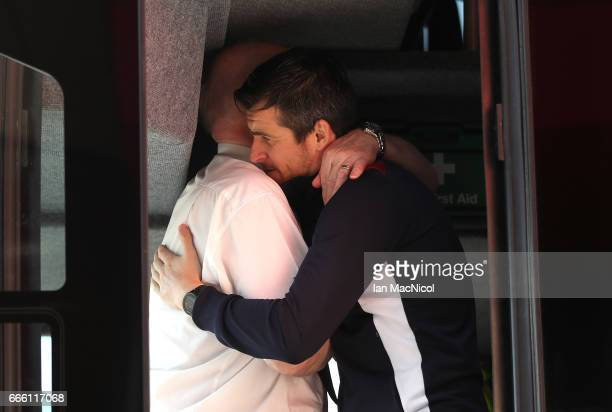 Joey Barton of Burnley arrives at the stadium prior to the Premier League match between Middlesbrough and Burnley at Riverside Stadium on April 8...