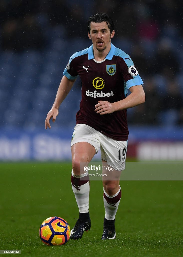 Joey Barton of Burnley during the Premier League match between Burnley and Leicester City at Turf Moor on January 31, 2017 in Burnley, England.