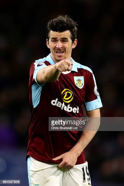 Joey Barton of Burnley gestures during the Premier League match between Burnley and Stoke City at Turf Moor on April 4 2017 in Burnley England