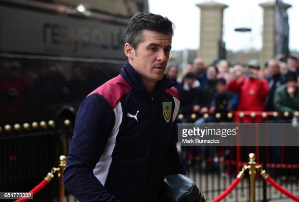 Joey Barton of Burnley steps off the team bus ahead of the Premier League match between Sunderland and Burnley at Stadium of Light on March 18 2017...