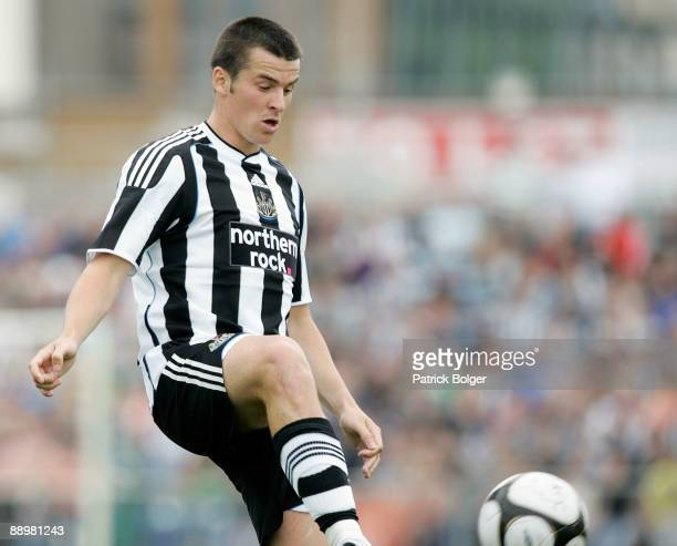 Joey Barton of Newcastle in action during the preseason friendly match between Shamrock Rovers and Newcastle United at the Tallaght Stadium on July...