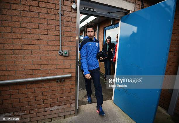 Joey Barton of QPR arrives for the Barclays Premier League match between Burnley and Queens Park Rangers at Turf Moor on January 10 2015 in Burnley...