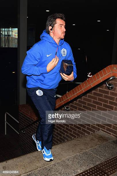 Joey Barton of QPR arrives prior to the Barclays Premier League match between Newcastle United and Queens Park Rangers at St James' Park on November...
