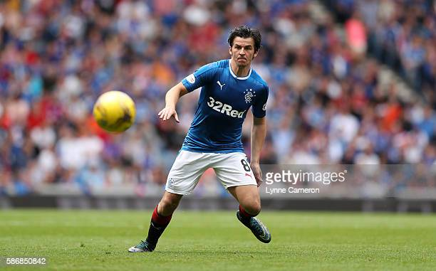 Joey Barton of Rangers during the Ladbrokes Scottish Premiership match between Rangers and Hamilton Academical at Ibrox Stadium on August 6 2016 in...