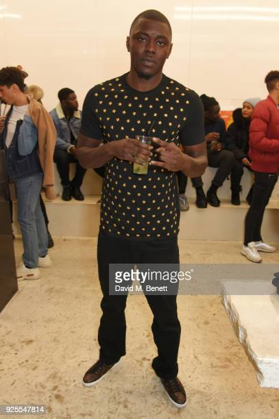 Joey Base attends the What We Wear x Axel Arigato pop up shop launch party on February 28 2018 in London England