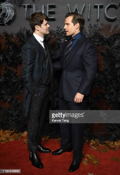 Joey Batey and Henry Cavill attend The Witcher World Premiere at The Vue on December 16 2019 in London England