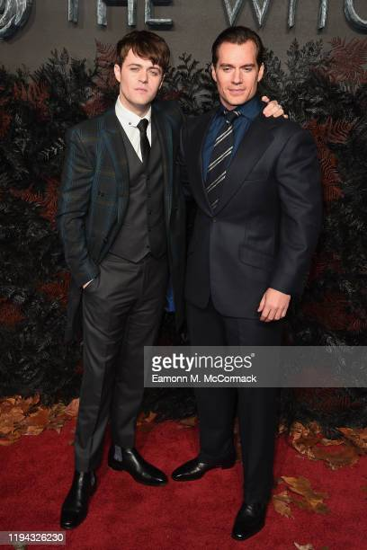 Joey Batey and Henry Cavill attend The Witcher World Premiere at Vue Cinema West End on December 16 2019 in London England