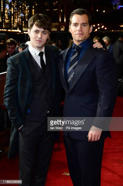 Joey Batey and Henry Cavill attending the world premiere of Netflix's The Witcher held at the Vue Leicester Square in London