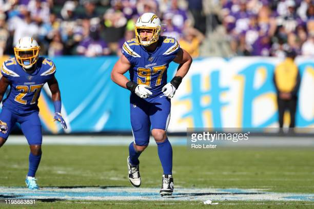 Joey Bosa of the Los Angeles Chargers in action during the game against the Minnesota Vikings at Dignity Health Sports Park on December 15, 2019 in...