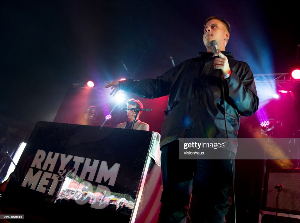 Joey Bradbury and Rowan Martin of The Rhythm Method perform on the Calling Out stage at Kendal Calling Festival at Lowther Deer Park on July 30, 2017 in Kendal, England.