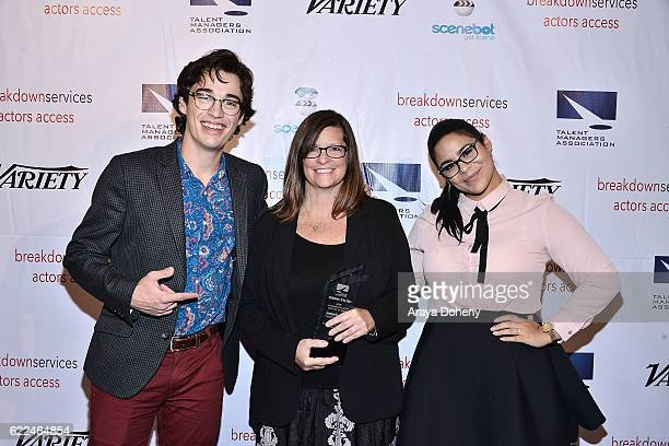 Joey Bragg Dawn Osbrink and Jessica Marie Garcia attend the The TMA 2016 Heller Awards on November 10 2016 in Beverly Hills California