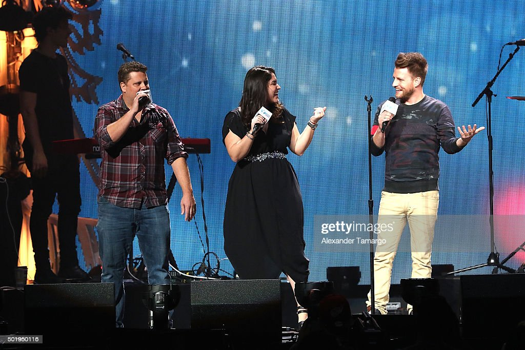Joey Brooks Micelle Fay And Valentine Of Y100 Onstage At Y100u0027s Jingle Ball  2015 Presented By