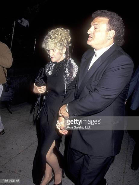 Joey Buttafuoco and wife Mary Jo Buttafuoco attend the Final WrapUp Party for 'A Current Affair' on May 4 1996 at 67th Street Armory in New York City