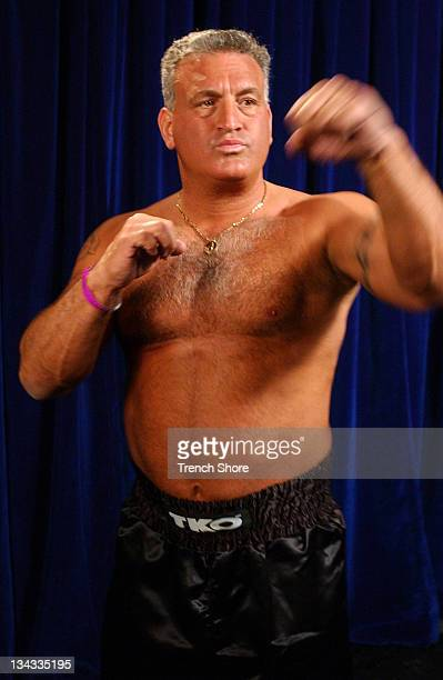 Joey Buttafuoco during Celebrity Boxing 2 WeighIn at KTLA Studios in Hollywood California United States