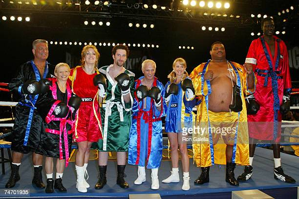 Joey Buttafuoco Olga Korbut Joanie Laurer Dustin Diamond Ron Palillo Darva Conger William Perry Manute Bol at the KTLA Studios in Hollywood California