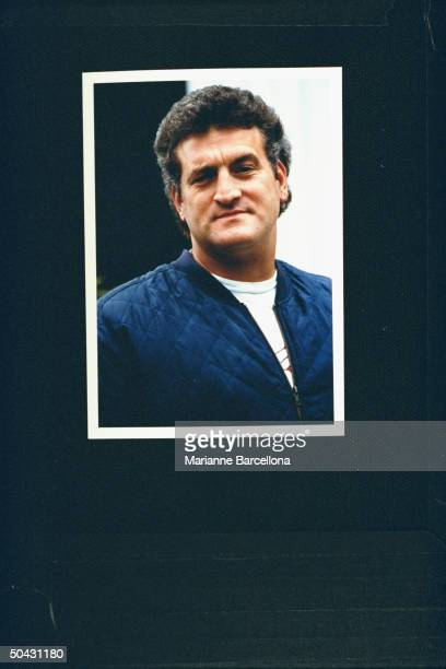 Joey Buttafuoco outside his home his alleged lover 16yearold Amy Fisher shot his wife Mary Jo in the head leaving her face partially paralyzed