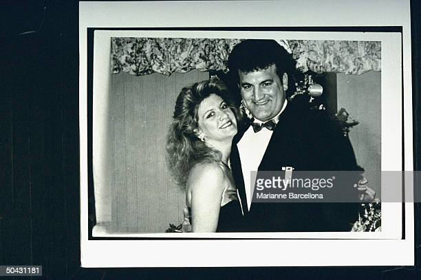 Joey Buttafuoco posing w his wife Mary Jo at New Years Eve party prob at home Joey's alleged lover 16yearold Amy Fisher shot Mary Jo in the head...
