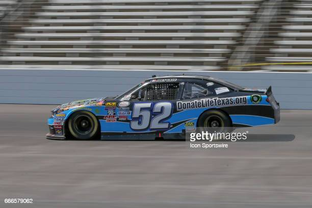 Joey Case drives along the front stretch during the My Bariatric Solutions NASCAR Xfinity Series race on April 8 2017 at Texas Motor Speedway in Fort...