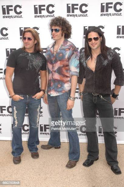 Joey Cassata Paulie Z and David Z attend IFC CELEBRATES SEASON 2 OF ROCK WITH AMERICA'S HOTTEST ROCKER MOM CONTEST at Madison Square Park on June 3...