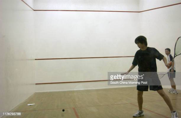 Joey Chan Holing in action during the opening of the 1st Fitti Junior Squash Award Scheme at Cornwall Street Park Squash Centre Kowloon Tong 21...