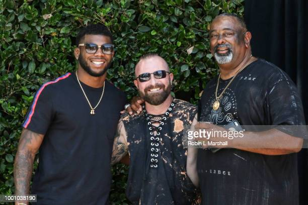 Joey Davis and Justin Peck attend Regard Magazine's celebration of the ESPY Awards and their Special Annual Sports Edition at private residence on...