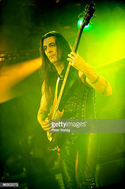 Joey DeMaio of Manowar performs at the Palladium on January 31 2010 in Cologne Germany