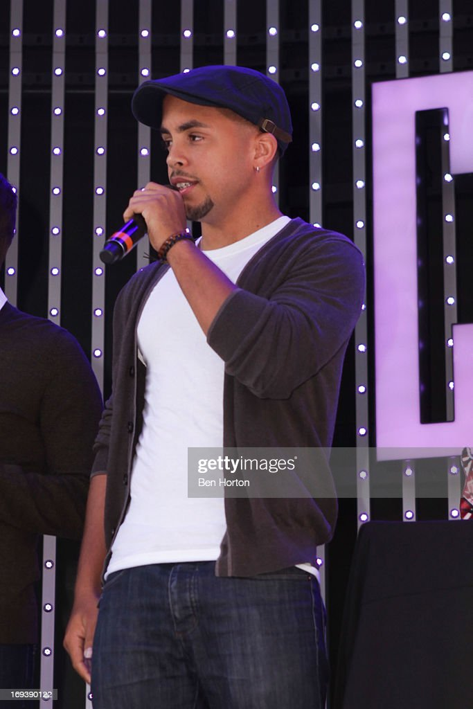 Joey Diggs Jr of Midnight Red performs at the atmosphere at the Universal CityWalk 20th anniversary event featuring 8 original cars from the 'Fast & The Furious' Movie Franchise 5 Towers Outdoor Concert Arena on May 23, 2013 in Universal City, California.