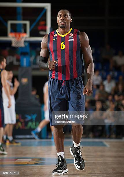 Joey Dorsey #6 of FC Barcelona in action during the 20132014 Turkish Airlines Euroleague Regular Season date 1 game between FC Barcelona Regal v...
