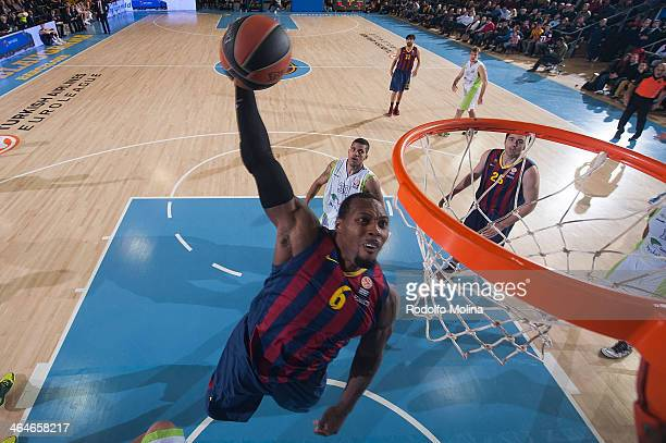 Joey Dorsey #6 of FC Barcelona in action during the 20132014 Turkish Airlines Euroleague Top 16 Date 4 game between FC Barcelona Regal v Unicaja...