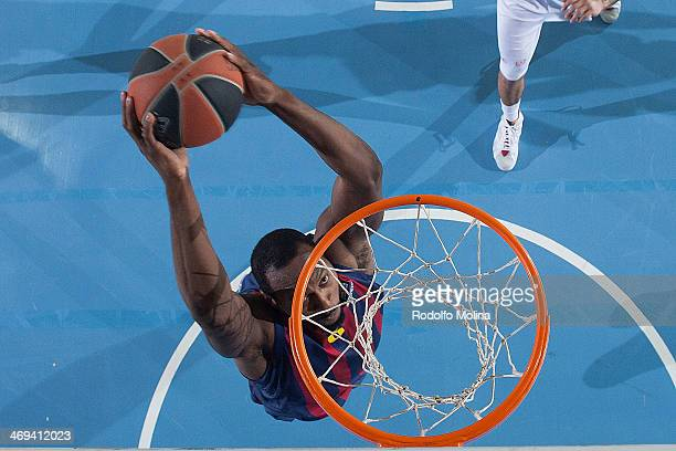 Joey Dorsey #6 of FC Barcelona in action during the 20132014 Turkish Airlines Euroleague Top 16 Date 6 game between FC Barcelona Regal v EA7 Emporio...