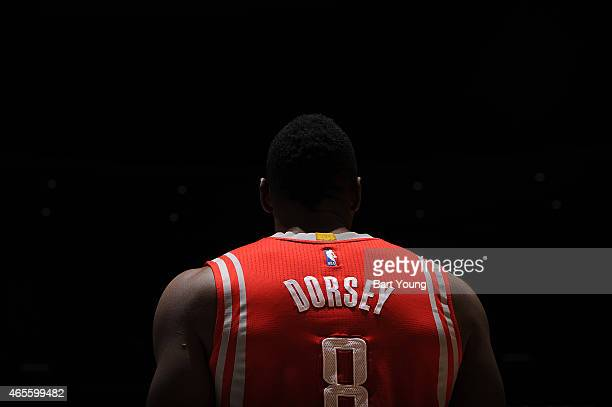 Joey Dorsey of the Houston Rockets before the game against the Denver Nuggets on March 7 2015 at the Pepsi Center in Denver Colorado NOTE TO USER...