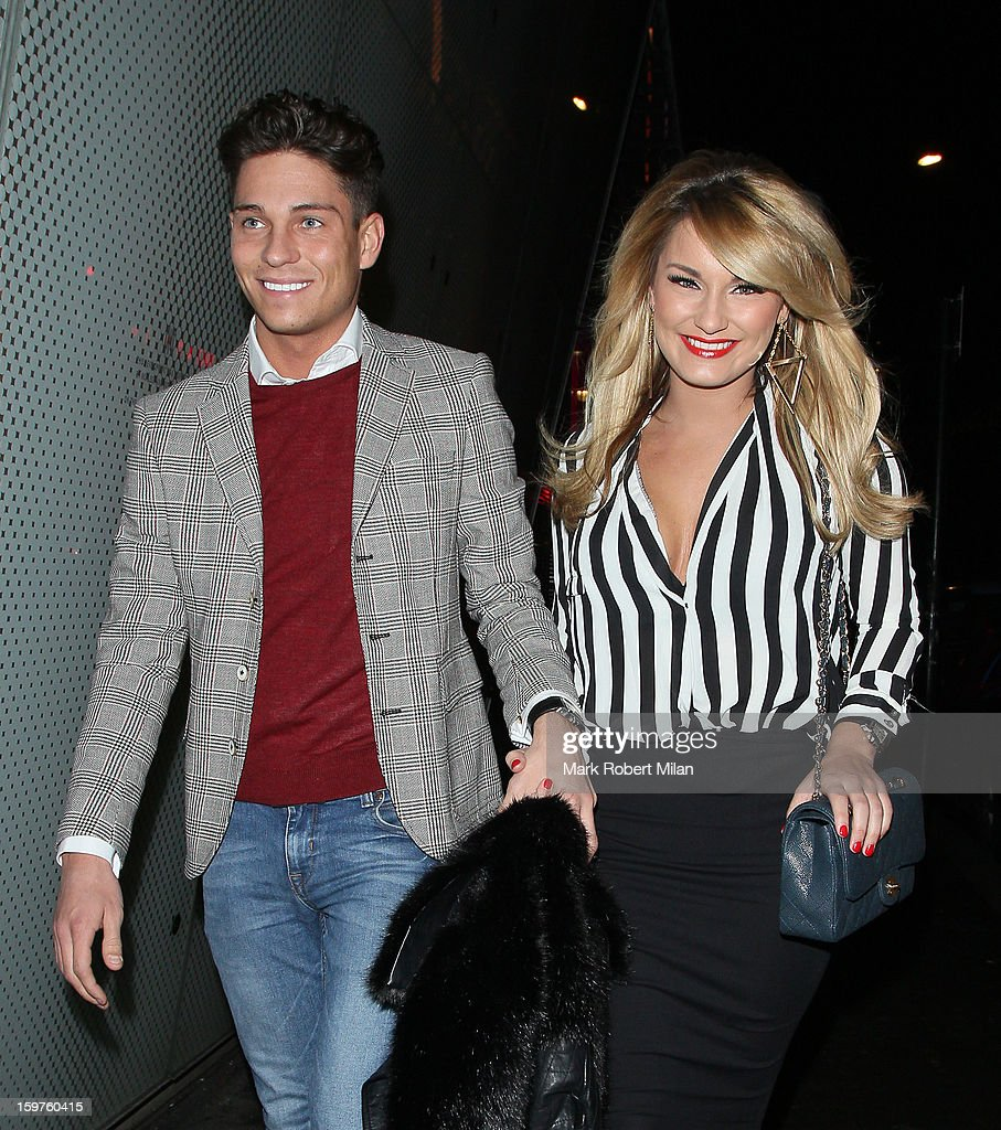 Joey Essex and Sam Faiers at Cafe De Paris night club on January 19, 2013 in London, England.