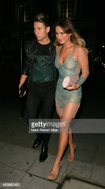 Joey Essex and Sam Faiers at Scotts restaurant and Mahiki night club on August 20 2014 in London England