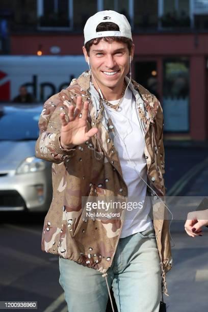 Joey Essex arrives at Heat Radio studios on January 21 2020 in London England