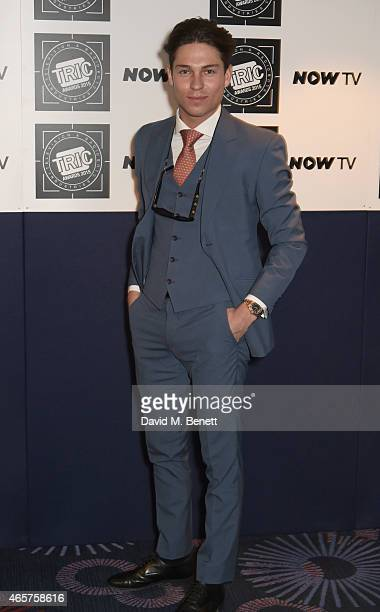 Joey Essex attends the TRIC Television and Radio Industries Club Awards at The Grosvenor House Hotel on March 10 2015 in London England