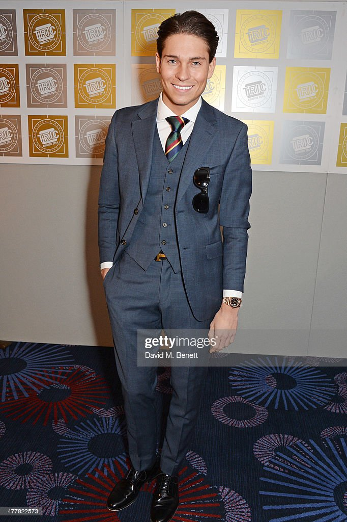 Joey Essex attends the TRIC Television and Radio Industries Club Awards at the Grosvenor House Hotel on 11, 2014 in London, England.