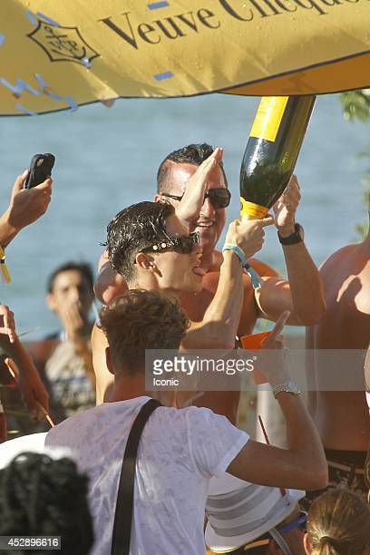 Joey Essex is seen celebrating his birthday at the Ocean Beach Club on July 29 2014 in Ibiza Spain